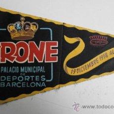 Banderines de colección: BANDERIN KRONE PALACIO DE DEPORTES DE BARCELONA BANDERIN-118. Lote 34641333
