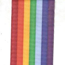 Banderines de colección: 10 MTS. DE CINTA DE RAYON DE 10 CM. DE ANCHO COLORES DE LA BANDERA DE LA PAZ ESTAMPADOS A DOS CARAS. Lote 35170492
