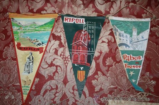 Banderines de colección: GRAN COLECCIÓN DE BANDERINES - LA MAYORÍA DE LOCALIDADES DE CATALUÑA - AÑOS 30-40 - Foto 2 - 35728849