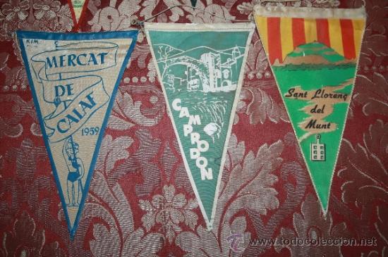 Banderines de colección: GRAN COLECCIÓN DE BANDERINES - LA MAYORÍA DE LOCALIDADES DE CATALUÑA - AÑOS 30-40 - Foto 3 - 35728849