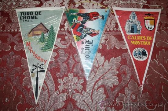 Banderines de colección: GRAN COLECCIÓN DE BANDERINES - LA MAYORÍA DE LOCALIDADES DE CATALUÑA - AÑOS 30-40 - Foto 4 - 35728849