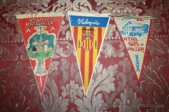 Banderines de colección: GRAN COLECCIÓN DE BANDERINES - LA MAYORÍA DE LOCALIDADES DE CATALUÑA - AÑOS 30-40 - Foto 5 - 35728849
