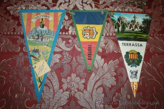 Banderines de colección: GRAN COLECCIÓN DE BANDERINES - LA MAYORÍA DE LOCALIDADES DE CATALUÑA - AÑOS 30-40 - Foto 6 - 35728849