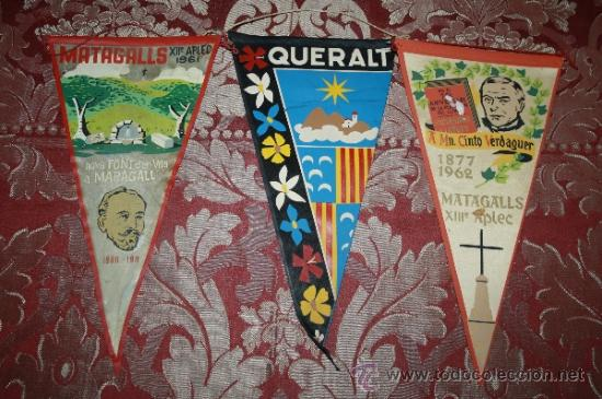 Banderines de colección: GRAN COLECCIÓN DE BANDERINES - LA MAYORÍA DE LOCALIDADES DE CATALUÑA - AÑOS 30-40 - Foto 8 - 35728849