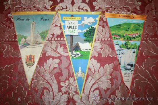 Banderines de colección: GRAN COLECCIÓN DE BANDERINES - LA MAYORÍA DE LOCALIDADES DE CATALUÑA - AÑOS 30-40 - Foto 9 - 35728849