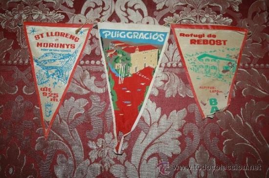 Banderines de colección: GRAN COLECCIÓN DE BANDERINES - LA MAYORÍA DE LOCALIDADES DE CATALUÑA - AÑOS 30-40 - Foto 10 - 35728849