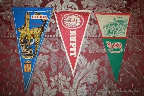Banderines de colección: GRAN COLECCIÓN DE BANDERINES - LA MAYORÍA DE LOCALIDADES DE CATALUÑA - AÑOS 30-40 - Foto 11 - 35728849