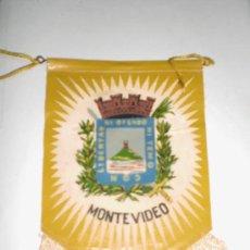 Banderines de colección: BANDERÍN ANTIGUO DE MONTEVIDEO.. Lote 35908265