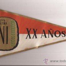 Banderines de colección: BANDERIN-PLUS ULTRA INI 1941 1961-20 AÑOS. Lote 35933266