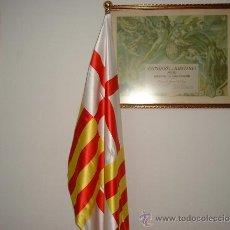 Banderines de colección: BANDERA DE BARCELONA CIUDAD ESTAMPADA EN RASO PARA DESPACHO DE 150X100. Lote 36437104