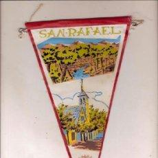 Banderines de colección: ANTIGUO BANDERIN TELA SAN RAFAEL. Lote 36929364