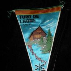 Banderines de colección: BANDERÍN TURÓ DE L'HOME 1713 M. DE MONTSENY. Lote 36971443