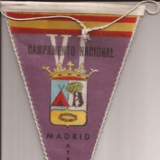 Banderines de colección: BANDERIN-VI CAMPAMENTO NACIONAL ASOCIACION ESPAÑOLA DE CAMPING Y CARAVANAS 1964 MADRID. Lote 38533991