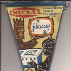 Banderines de colección: BANDERIN-IMECA SA-TIENDA ELECTRODOMESTICOS MADRID NAVIDAD 196??. Lote 38534012