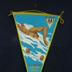 Banderines de colección: BANDERÍN TELA CLUB DEPORTIVO MOSCARDÓ CAMPEONATOS SOCIALES 1961. Lote 39038921