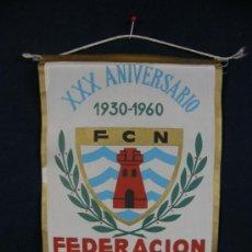 Banderines de colección: BANDERÍN TELA XXX ANIVERSARIO FEDERACION CASTELLANA DE NATACIÓN 1930-1960. Lote 39039111
