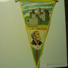 Banderines de colección: BANDERIN TELA CASTILLO DE JAVIER -NAVARRA. Lote 39109256