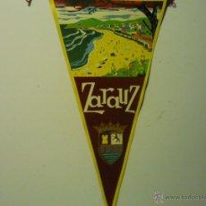 Banderines de colección: BANDERIN DE TELA ZARAUZ. Lote 39350150