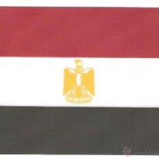 Banderines de colección: 10 BANDERITAS 15X10 DEL EGIPTO ESTAMPADAS SOBRE CINTA DE RAYON A DOBLE CARA. Lote 39626185