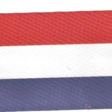 Banderines de colección: 50 BANDERITAS 15X10 DEL HOLANDA ESTAMPADAS A DOBLE CARA CON VAINA PARA PALITO Y PEANA SOBREMESA. Lote 39626518