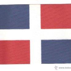 Banderines de colección: 10 BANDERITAS 15X10 DE RPCA.DOMINICANA ESTAMPADAS SOBRE CINTA DE RAYON A DOBLE CARA. Lote 221522077