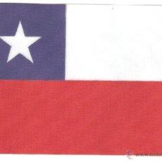 Banderines de colección: 10 BANDERITAS 15X10 DE CHILE ESTAMPADAS SOBRE CINTA DE RAYON A DOBLE CARA. Lote 39629182
