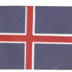 Banderines de colección: 10 BANDERITAS 15X10 DE ISLANDIA ESTAMPADAS SOBRE CINTA DE RAYON A DOBLE CARA. Lote 39629226