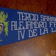 Banderines de colección: ANTIGUO BANDERIN DE EL TERCIO SAHARIANO ALEJANDRO FARNESIO IV DE LA LEGION EN VILLA CISNEROS - II GR. Lote 38250150