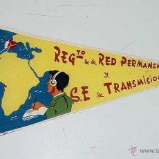 Banderines de colección: ANTIGUO BANDERIN REGIMIENTO DE LA RED PERMANENTE Y S.E DE TRANSMISIONES - SAHARA - IFNI - MIDE 30 CM. Lote 38262867