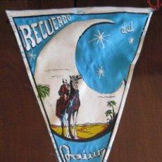 Banderines de colección: ANTIGUO BANDERIN RECUERDO DEL AAIUN - SAHARA - SIDI IFNI - MIDE 30 CMS APROX. - TAL Y COMO SE VE EN. Lote 38262997