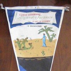 Banderines de colección: ANTIGUO BANDERIN TERCIO SAHARIANO ALEJANDRO FARNESIO, IV DE LA LEGION - IX BANDERA - SAHARA - MIDE . Lote 38263088