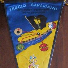 Banderines de colección: ANTIGUO BANDERIN TERCIO SAHARIANO ALEJANDRO FARNESIO IV DE LA LEGION - BATALLON CABRERIZAS - SAHARA . Lote 41414139