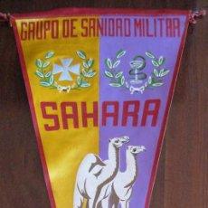 Banderines de colección: ANTIGUO BANDERIN GRUPO DE SANIDAD MILITAR - SAHARA 1959 - MIDE 35 CMS APROX.. - TAL Y COMO SE VE EN . Lote 38263126