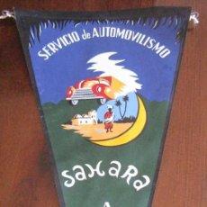 Banderines de colección: ANTIGUO BANDERIN SERVICIO AUTOMOVILISMO, SAHARA, AAIUN - MIDE 35 CMS APROX. - TAL Y COMO SE VE EN LA. Lote 38263137