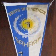 Banderines de colección: ANTIGUO BANDERIN GRUPO INTENDENCIA SAHARA - MIDE 35 CMS APROX. - TAL Y COMO SE VE EN LA FOTOGRAFIA. . Lote 38263140