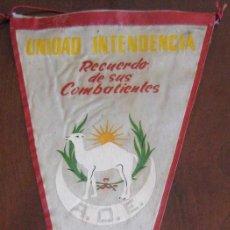 Banderines de colección: ANTIGUO BANDERIN UNIDAD INTENDENCIA - RECUERDO DE SUS COMBATIENTES - SIDI IFNI 1957 / 58 - SAHARA - . Lote 38263209