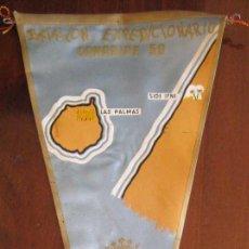 Banderines de colección: ANTIGUO BANDERIN DEL BATALLON EXPEDICIONARIO CANARIAS 50 - SIDI IFNI 1959 / 60 - SAHARA - MIDE 35 CM. Lote 38263212