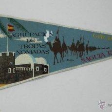Banderines de colección: ANTIGUO BANDERIN MILITAR AGRUPACIÓN DE TROPAS NÓMADAS, GRUPO I, SAGUIA EL HAMRA, SAHARA, 48 CTMS. TI. Lote 38287261