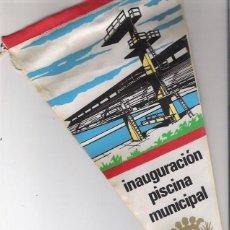 Banderines de colección: BANDERIN INAGURACION PISCINA MUNICIPAL SABADELL 1966. Lote 40368705