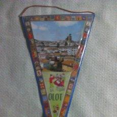 Banderines de colección: BANDERÍN DE OLOT. GERONA. CATALUÑA. ESPAÑA. AÑOS ´60-´70. . Lote 40454803