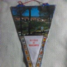 Banderines de colección: BANDERÍN DE RIUDECANYES. TARRAGONA. CATALUÑA. ESPAÑA. AÑOS ´60-´70. Lote 40454816