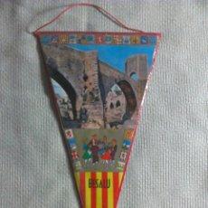 Banderines de colección: BANDERÍN DE BESALÚ. GERONA. CATALUÑA. ESPAÑA. AÑOS ´60-´70. . Lote 40480891