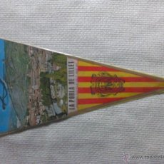 Banderines de colección: BANDERÍN DE LA POBLA DE LILLET. BARCELONA. CATALUÑA. ESPAÑA. AÑOS ´60-´70.. Lote 40480932