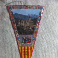Banderines de colección: BANDERÍN DE SANTUARIO DE LOURDES LA NOU DE BERGUEDA. BARCELONA. CATALUÑA. ESPAÑA. AÑOS ´60-´70. Lote 40523945