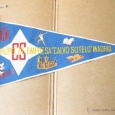 Banderines de colección: BANDERIN DEL GRUPO DE EMPRESAS CALVO SOTELO - CS DE MADRID - ACEITES. Lote 40554220