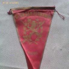 Banderines de colección: BANDERÍN CLUB SAN FERNANDO. MADRID. ESPAÑA. AÑOS ´50-´60. Lote 40844137