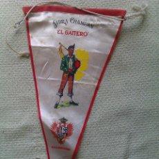 Banderines de colección: BANDERÍN SIDRA CHAMPÁN EL GAITERO. VILLAVICIOSA. ASTURIAS. ESPAÑA. Lote 41029006