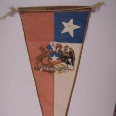 Banderines de colección: BANDERÍN-SOUVENIR DE CHILE-FABRICADO EN ARGENTINA. EN TELA. MIDE: 35,6 X 15,7 CMS.. Lote 41036633