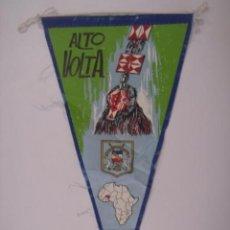 Banderines de colección: BANDERÍN-SOUVENIR DE ALTO VOLTA-AFRICA. CON CONCURSO. EN TELA. MIDE: 27,1 X 14,5 CMS.. Lote 41036867