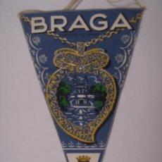 Banderines de colección: BANDERÍN-SOUVENIR DE BRAGA-PORTUGAL. EN TELA. MIDE: 23,8 X 14,3 CMS.. Lote 41038879